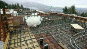 Residential West Vancouver reinforcing steel job site