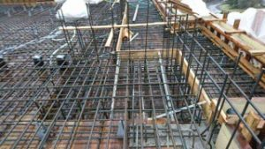 Residential West Vancouver steel rebar job site